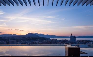 JR九州Blossom大分飯店-天空SPA景色超美,房間溫馨,超推薦!