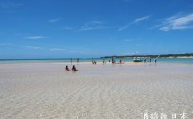 百合濱(百合ヶ浜)退潮時才會現身的與論島夢幻沙灘