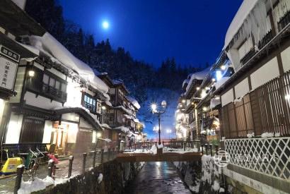 銀山溫泉冬景色-日劇阿信拍攝場景,夢幻雪景冬浪漫