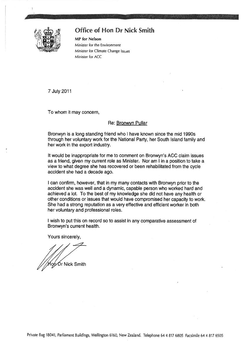 Supporting Letter