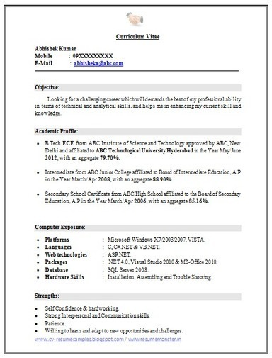 Mba Resume Format Mba Fresher Resume Sample Doc Sample Mba Resumes   Free Cover Letter Templates for Microsoft Word