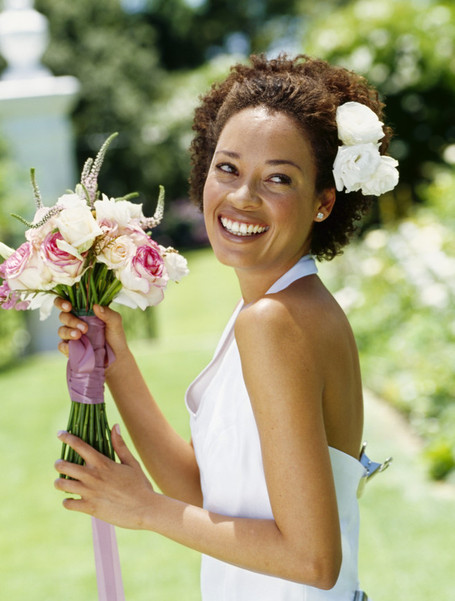 Beautiful Brown Brides Natural Bridal Hairstyle Inspirations