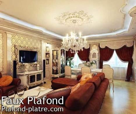 Plafond Platre Salon Simple | Unixpaint