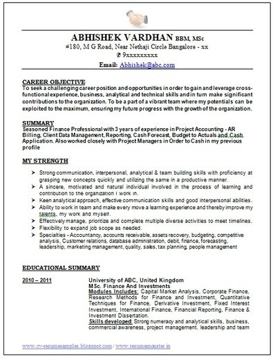cv and resume samples with free download best resume format of 2015