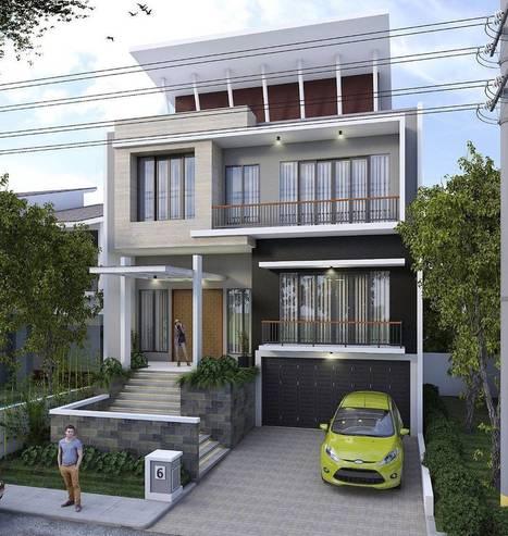 18 Desain Rumah Mewah Modern Bergaya Minimalis