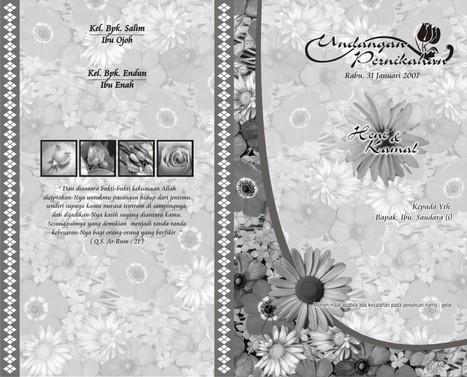 Download Desain Undangan Pernikahan 001 Corel D
