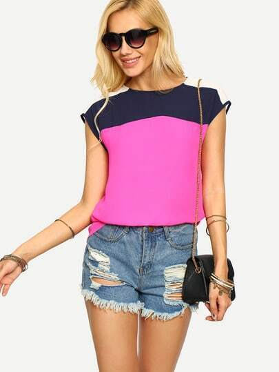 Multicolor Patchwork Sleeveless Blouse