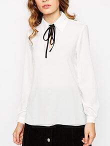 blusa solapa lazo-blanco