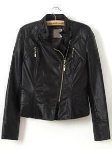 Stand Collar Slim Moto Jacket