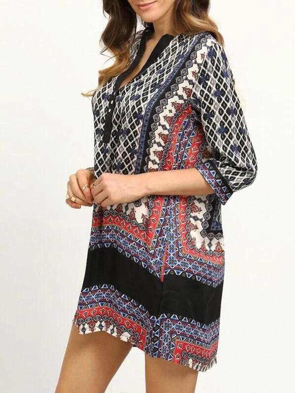 Schwarz Besticktes Tunika Kleid Von Kori By Milla Code
