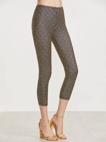 Leggings con brillos - dorado