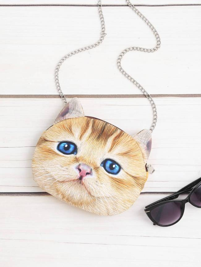 SheIn Cat Shaped Crossbody Bag With Chain