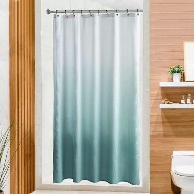 peri home ombre microsculpt 54 inch x 78 inch stall shower curtain in aqua