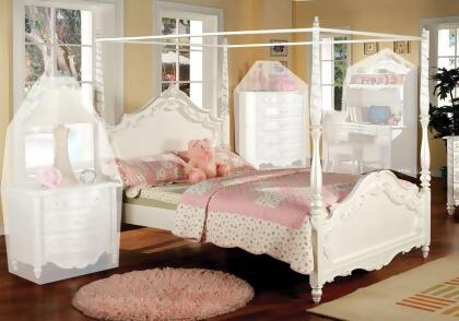 Simple Relax 1PerfectChoice Youth Victoria Fairy Princess Style     Simple Relax 1PerfectChoice Youth Victoria Fairy Princess Style Lovely  Pearl White Twin Bed Canopy Size  Twin Bed   Twin Canopy