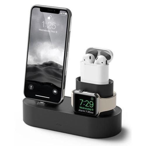 〈Elago〉Apple 3合1充電座 整合iPhone/AirPods/Apple Watch 兩色任選