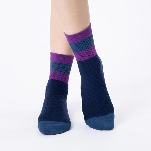 發熱保暖襪800萬人一致推薦撞色網點中筒蓄熱襪-藍 (商品編號:S1002165)哪裡買就到aPure官網