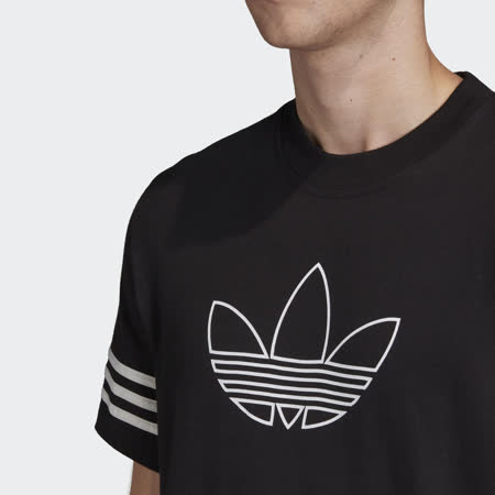 adidas T恤 Outline Tee 運動休閒 基本款 男款 愛迪達 三葉草 三線 圓領 棉質 穿搭 黑 白 FM3897 FM3897|2020年最推薦的 ...