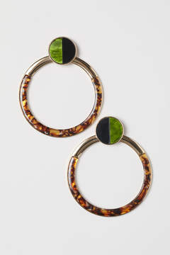 Large Round Earrings – Green