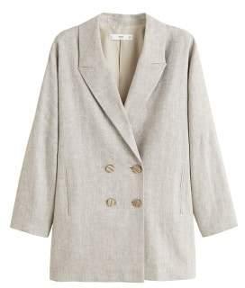 Linen mix blazer