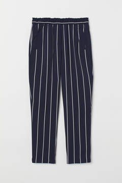Striped pull on trousers