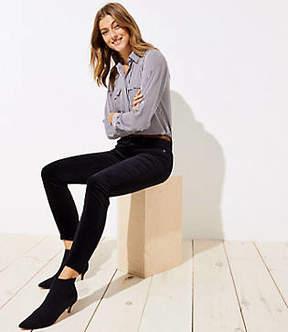 LOFT Modern Velvet Skinny Jeans in Black