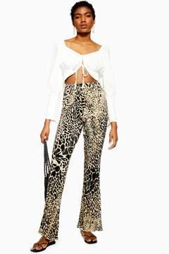 Leopard Plisse Trousers