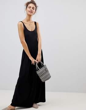 ASOS DESIGN ASOS Mixed Fabric Strappy Maxi Dress
