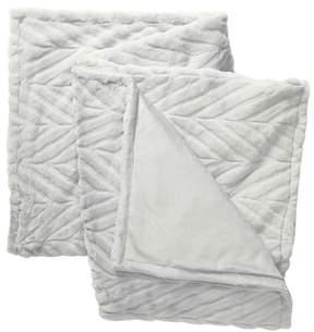 Chevron Faux Fur Throw Blanket