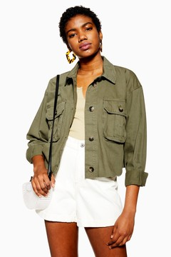Khaki Shacket