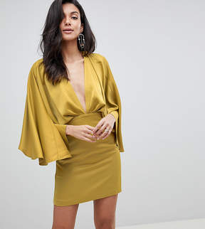 ASOS DESIGN Cape Kimono Sleeve Dress