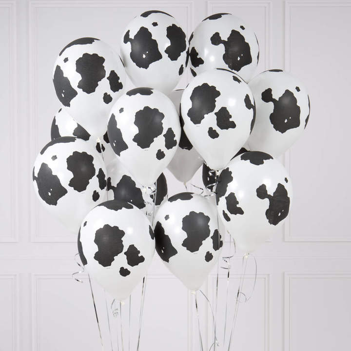Bubblegum Balloons Pack Of 14 Cow Print Party Balloons