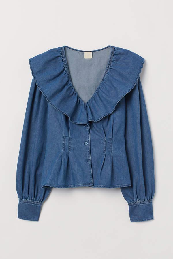 H&M Flounced blouse