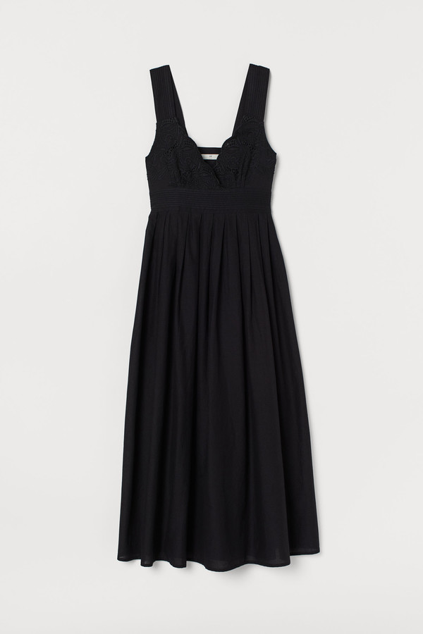 H&M Cotton dress with embroidery