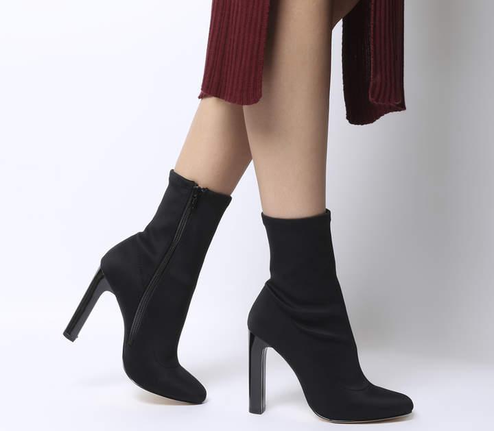 Office Azul Sock Boots Black