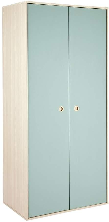Argos Home Camden Blue & Acacia 2 Door Wardrobe
