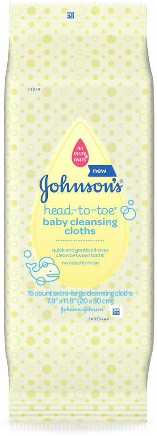 Johnson & Johnson Head-to-Toe 15-Count Baby Cleansing Cloths