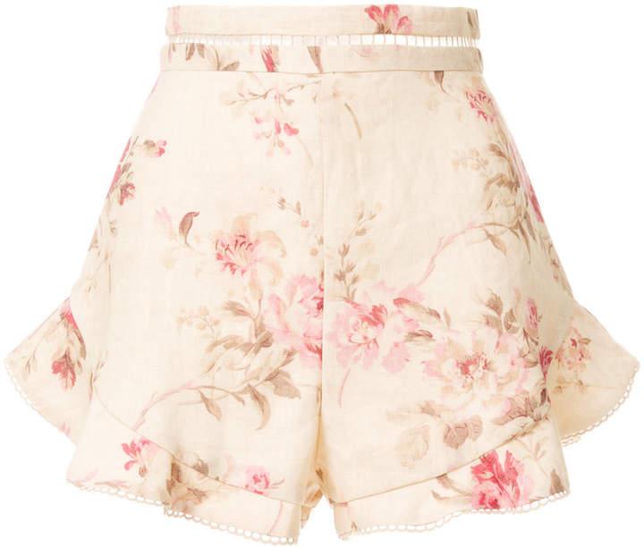 Zimmermann high-waisted floral shorts