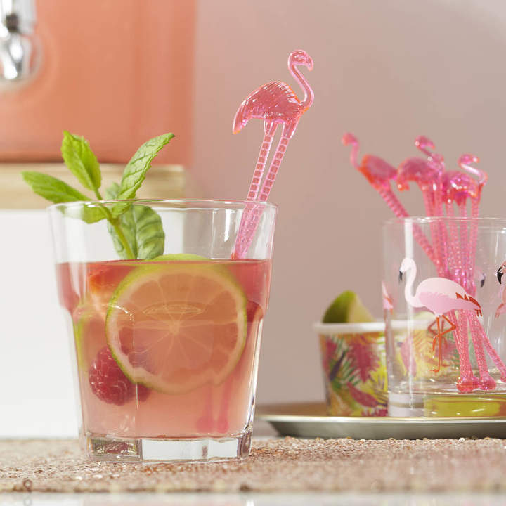 Ginger Ray Hot Pink Flamingo Drink Cocktail Party Stirrers