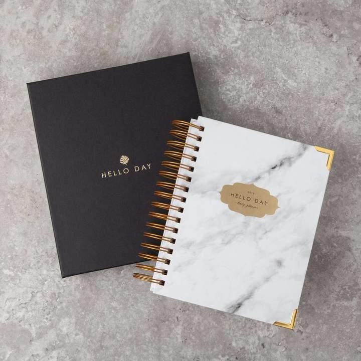 Hello Day Original 2019 Daily Planner: Carrara