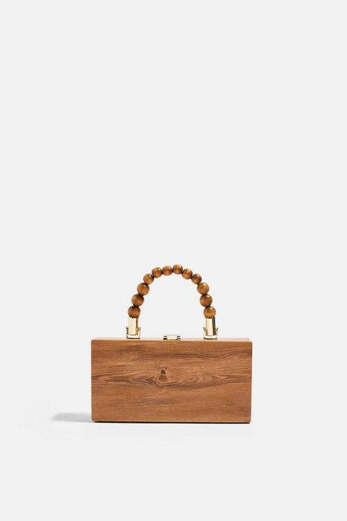 Topshop Womens Gina Ball Boxy Grab Bag - Brown
