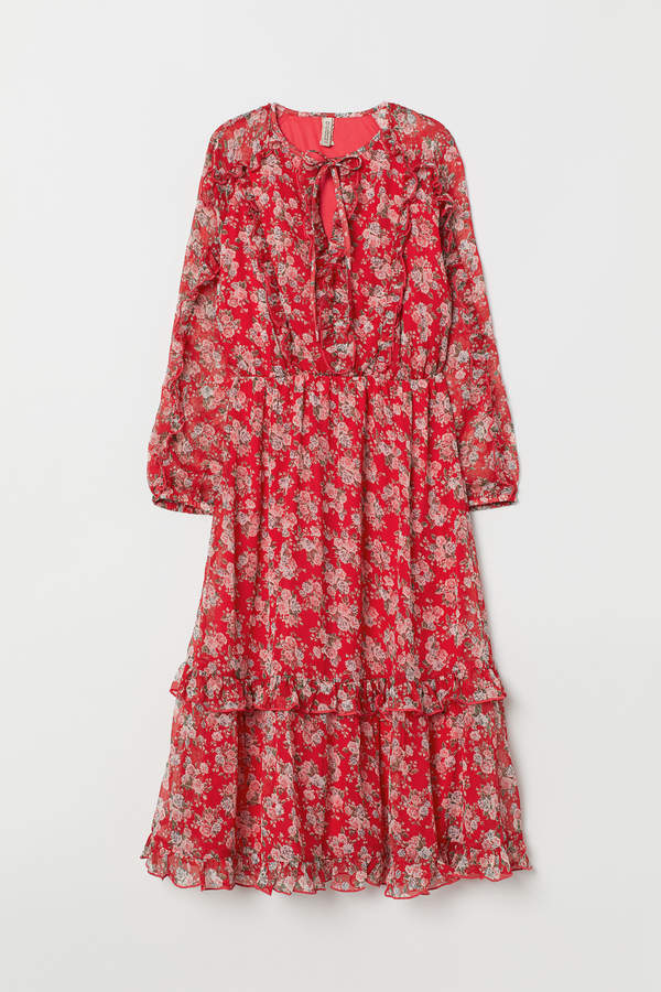 H&M Chiffon dress with frills