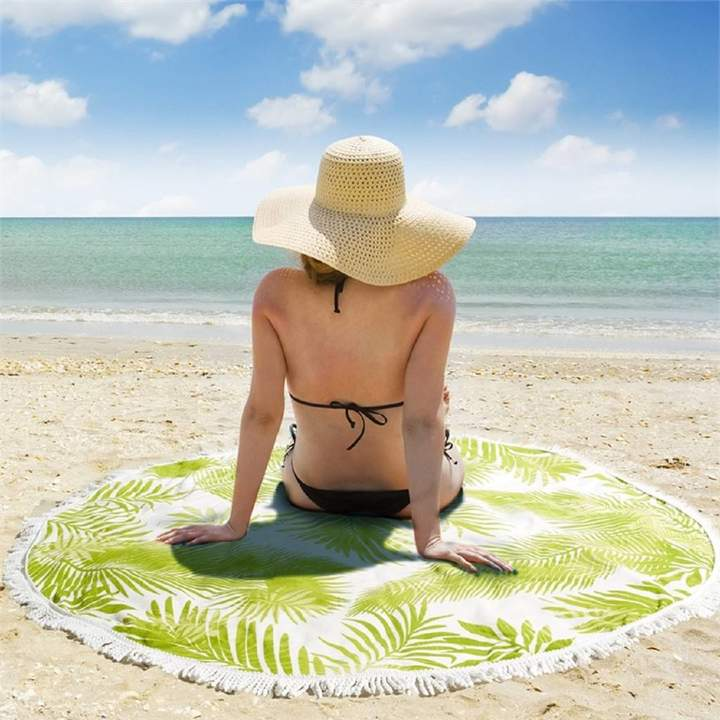 Marquis & Dawe Round Tropical Beach Towel