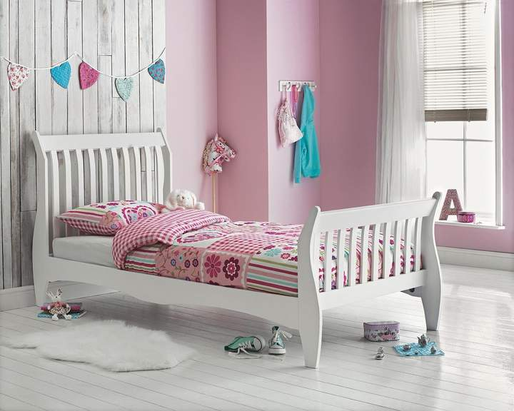 Argos Home Daisy White Single Sleigh Bed Frame