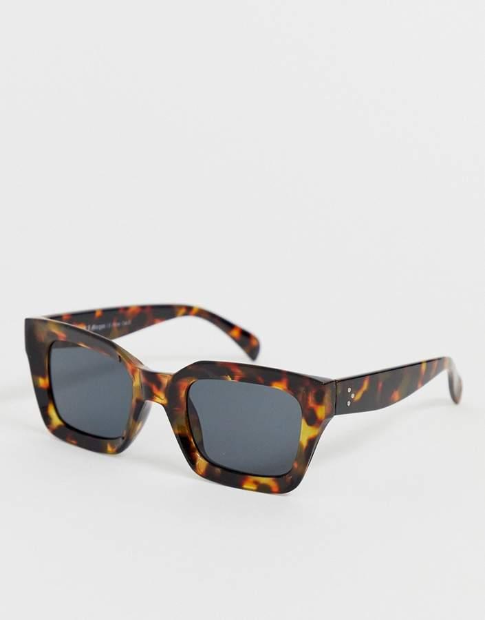 Aj Morgan AJ Morgan chunky square sunglasses in tortoiseshell