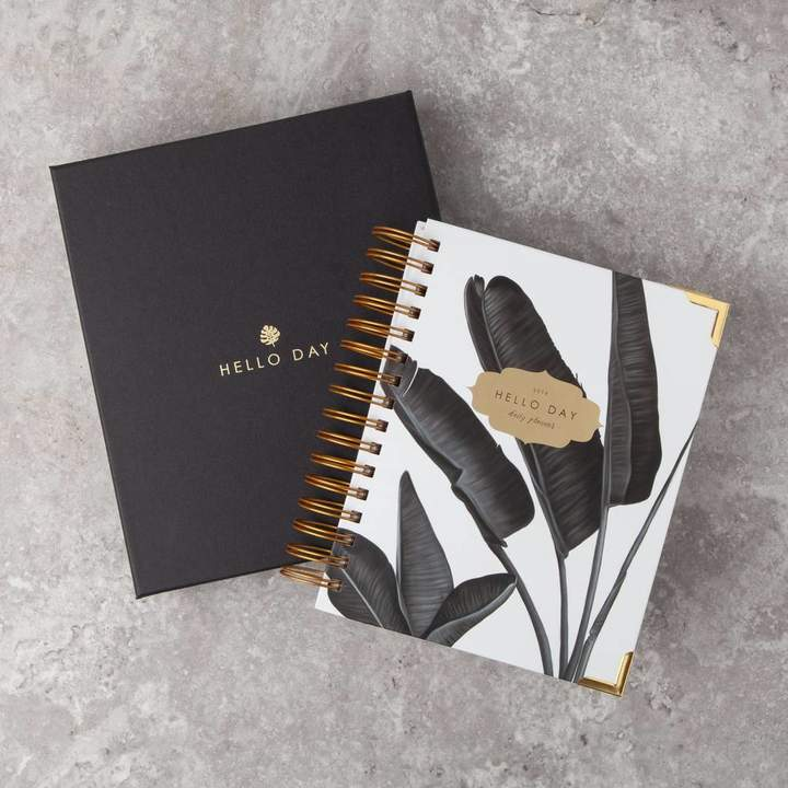 Hello Day Minimal 2019 Daily Planner: Tropic