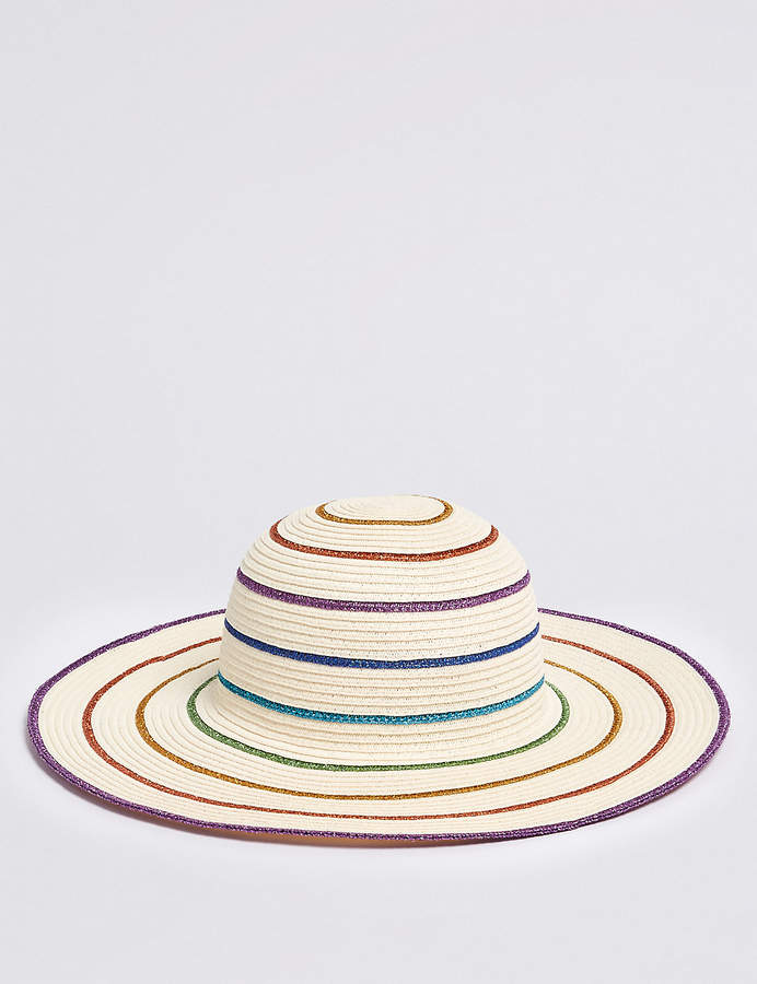 Marks and Spencer Kids Rainbow Hat with Sun Smart UPF50+ (3-14 Years)