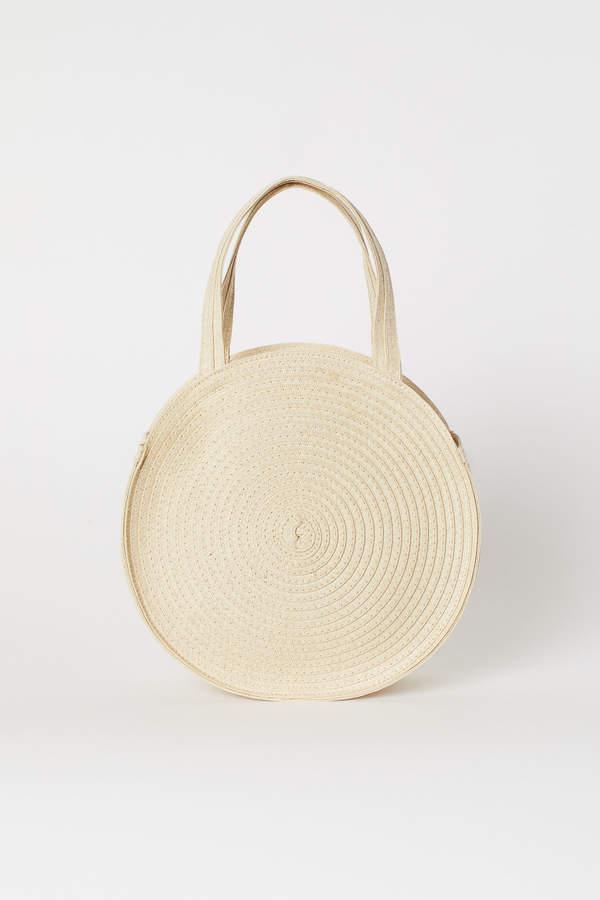 H&M Round straw bag