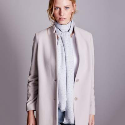 The White Company Heart Print Scarf
