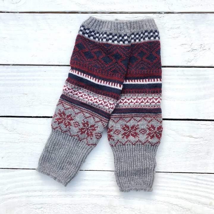 HOUNDWORTHY Bohemian Grey Leg Warmers • Cosy Boot Cuffs