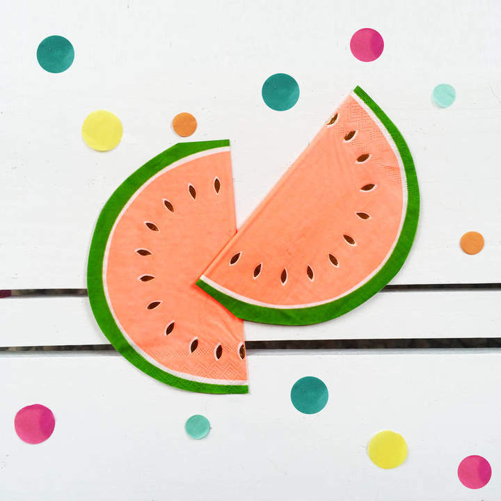 Postbox Party Tropical Watermelon Party Napkins